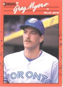 Though Greg Myers had never caught a knuckleballer prior to Candiotti's arrival in Toronto in 1991, he still handled the new Blue Jays knuckleball pitcher very well. In the eight games that the pair worked together, Candiotti notched a 0.91 ERA.