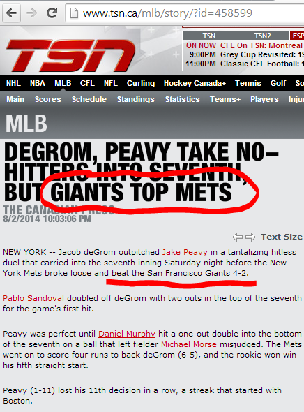 tsn giants mets